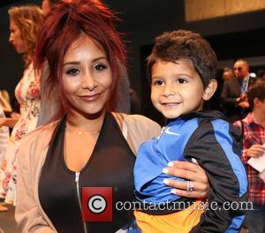 Nicole Snooki Polizzi , Lorenzo LaValle - New York Fashion Week Spring/Summer 2016 - Kids Rock! - Front Row at...
