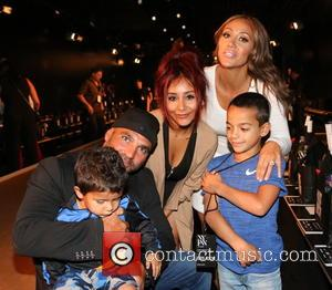 Nicole Snooki Polizzi, Lorenzo LaValle, Joe Gorga, Mellisa Gorga , Gino Gorga - New York Fashion Week Spring/Summer 2016 -...