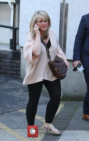 Sally Lindsay - Sally Lindsay outside ITV Studios - London, United Kingdom - Thursday 10th September 2015