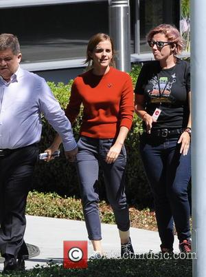 Emma Watson - Emma Watson filming 'The Circle' on location in Los Angeles - Los Angeles, California, United States -...