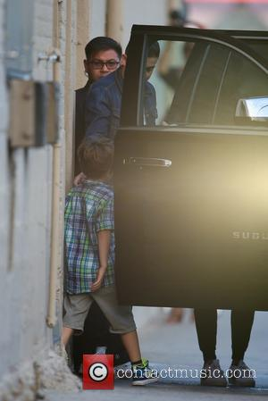 Valentino Martin - Ricky Martin leaves ABC studios with his two sons after filming 'Jimmy Kimmel Live!' - Los Angeles,...