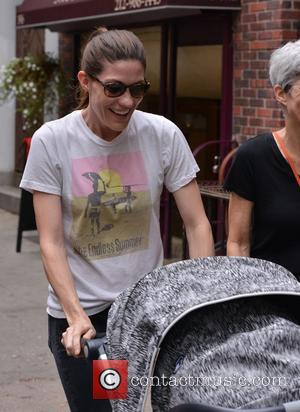 Jennifer Carpenter - Actress Jennifer Carpenter taking a stroll with her baby and a friend in Soho, Manhattan - Manhattan,...