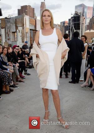 Uma Thurman - New York Fashion Week Spring/Summer 2016 - Givenchy - Front Row at Pier 26 Hudson River Park,...
