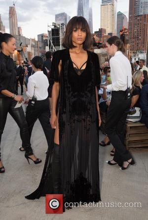 Ciara - New York Fashion Week Spring/Summer 2016 - Givenchy - Front Row at Pier 26 Hudson River Park, New...
