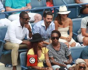 Eva Longoria , Jose Antonio Baston - Celebrities attend the Semi-finals of the 2015 Tennis U.S. Open at the USTA...