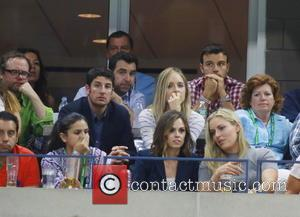 Jason Biggs, Jenny Mollon , Lindsey Vonn - Celebrities attend the Semi-finals of the 2015 Tennis U.S. Open at the...