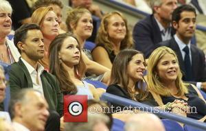 Jenna Bush Hager , Barbara Bush - Celebrities attend the Semi-finals of the 2015 Tennis U.S. Open at the USTA...