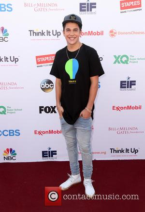 Austin Mahone - Think It Up Gala for Education Initiative's inaugural live telecast Event at Barker Hangar - Santa Monica,...