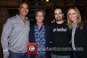 Christopher Jackson, Brian Grazer, Lin-Manuel Miranda and Dana Walden