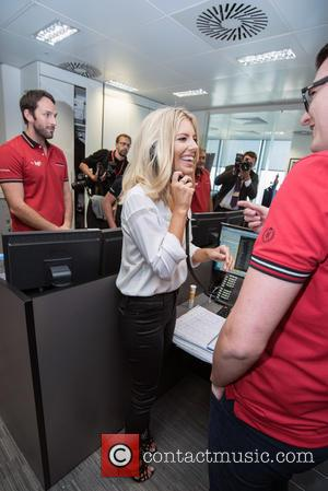Mollie King - BGC Annual Global Charity Day held at Canary Wharf. - London, United Kingdom - Friday 11th September...