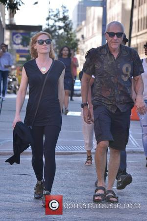 Marg Helgenberger - Marg Helgenberger and friend strolling in New York - Manhattan, New York, United States - Friday 11th...