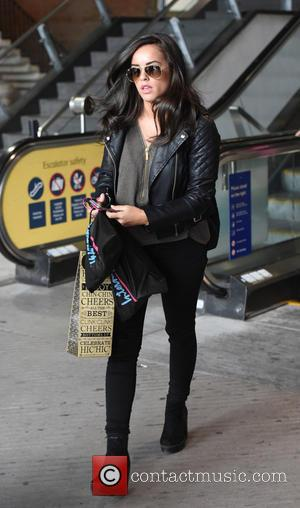 Georgia May Foote - Georgia May Foote arrives at Manchester Piccadilly station after rehearsals for 'Strictly Come Dancing' in London...