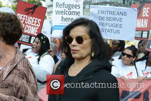 Bianca Jagger - Thousands of demonstrators join a national day of action called by various political campaign groups to show...