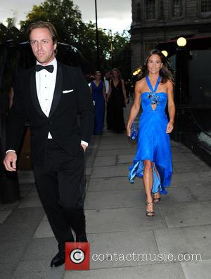 Pippa Middleton , Tom Kingston - Pippa Middleton arrives at the Boodles Boxing Ball in an electric blue dress and...