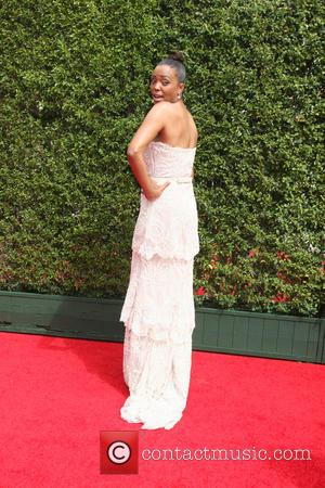 Aisha Tyler - 2015 Primetime Creative Emmy Awards - Red Carpet Arrivals at Microsoft Theater at LA Live, Emmy Awards...