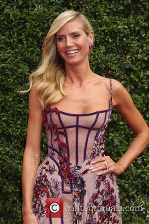Heidi Klum - 2015 Primetime Creative Emmy Awards - Red Carpet Arrivals at Microsoft Theater at LA Live, Emmy Awards...