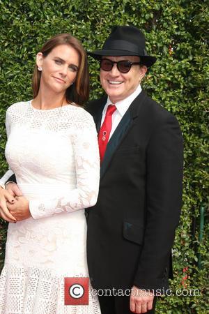 Amy Landecker , Bradley Whitfield - 2015 Primetime Creative Emmy Awards - Red Carpet Arrivals at Microsoft Theater at LA...