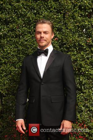 Derek Hough - 2015 Primetime Creative Emmy Awards - Red Carpet Arrivals at Microsoft Theater at LA Live, Emmy Awards...