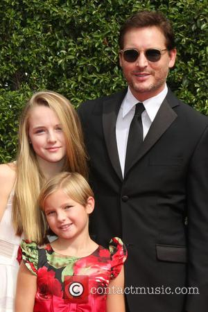 Peter Facinelli , daughters - 2015 Primetime Creative Emmy Awards - Red Carpet Arrivals at Microsoft Theater at LA Live,...