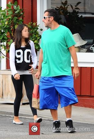 Adam Sandler - Actor Adam Sandler takes his daughter for lunch with her friends in Brentwood - Brentwood, California, United...