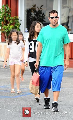 Adam Sandler , Sunny Madeline Sandler - Actor Adam Sandler takes his daughter for lunch with her friends in Brentwood...
