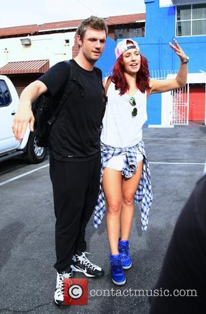 Nick Carter , Sharna Burgess - Celebrities at the 'Dancing With The Stars' rehearsal studio in Hollywood at DWTS rehearsal...