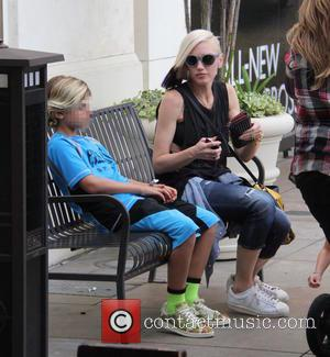 Gwen Stefani , Kingston Rossdale - Gwen Stefani takes her sons shopping at The Grove at the grove - Beverly...