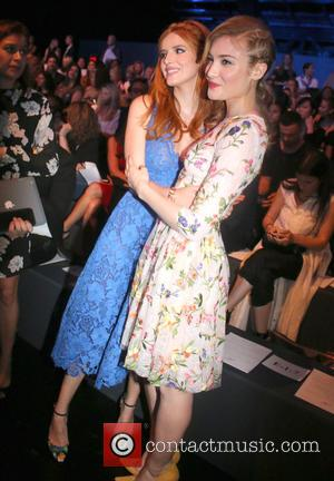 Bella Thorne , Gillian Jacobs - New York Fashion Week Spring 2016 - Monique Lhuillier - Front Row at New...