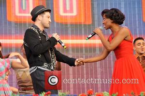Matt Cardle and Beverley Knght