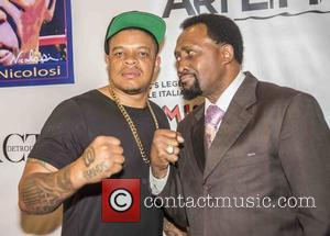 Curtis Young , Thomas Hearns - Floyd Joy Mayweather Foundation Pre Fight Reception held at Carmine's at The Forum Shops...