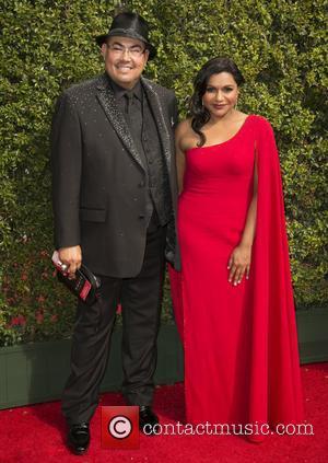 Salvador Perez and Mindy Kaling
