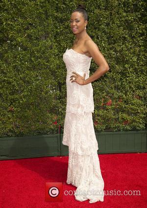 Aisha Tyler - 2015 Creative Arts Emmy Awards at Microsoft Theater - Arrivals at Microsoft Theater, Emmy Awards - Los...