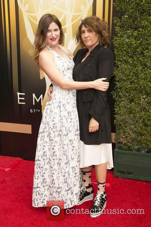 Kathryn Hahn , Jill Soloway - 2015 Creative Arts Emmy Awards at Microsoft Theater - Arrivals at Microsoft Theater, Emmy...