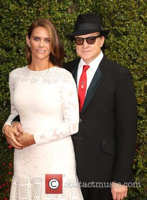 Amy Landecker , Bradley Whitford - 2015 Creative Arts Emmy Awards at Microsoft Theater - Arrivals at Microsoft Theater, Emmy...