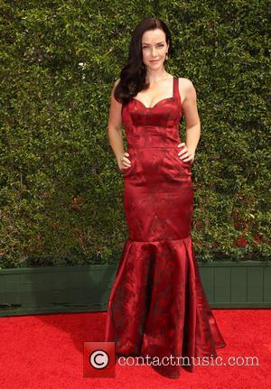 Annie Wersching - 2015 Creative Arts Emmy Awards at Microsoft Theater - Arrivals at Microsoft Theater, Emmy Awards - Los...