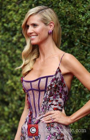 Heidi Klum - 2015 Creative Arts Emmy Awards at Microsoft Theater - Arrivals at Microsoft Theater, Emmy Awards - Los...