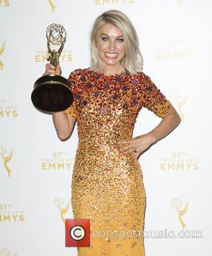 Julianne Hough - 2015 Creative Arts Emmy Awards at Microsoft Theater- Press Room at Microsoft Theater, Emmy Awards - Los...