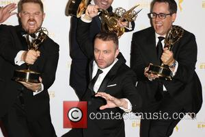 Chris Hardwick , winners - 2015 Creative Arts Emmy Awards at Microsoft Theater- Press Room at Microsoft Theater, Emmy Awards...