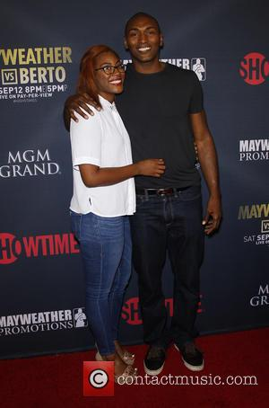 Metta World Peace - Mayweather VS Berto Pre Fight Party Arrivals at MGM Grand Garden Arena Las Vegas Presented By...