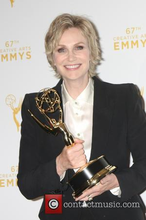 Jane Lynch - 2015 Creative Arts Emmy Awards at Microsoft Theater- Press Room at Microsoft Theater at LA Live, Emmy...