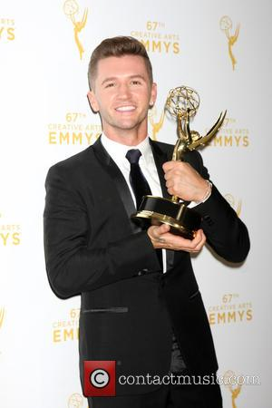 Travis Wall - 2015 Creative Arts Emmy Awards at Microsoft Theater- Press Room at Microsoft Theater at LA Live, Emmy...