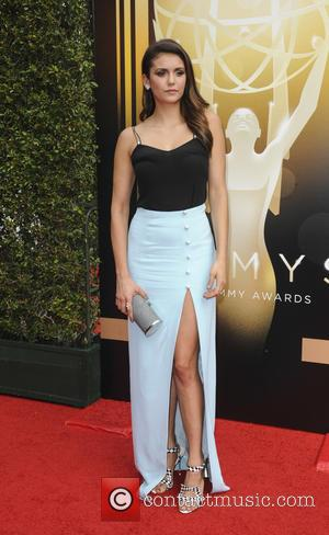 Nina Dobrev - 2015 Creative Arts Emmy Awards at Microsoft Theater - Arrivals at Emmy Awards - Los Angeles, California,...
