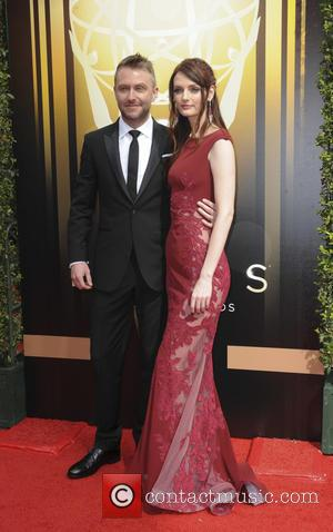 Lydia Hearst , Chris Hardwick - 2015 Creative Arts Emmy Awards at Microsoft Theater - Arrivals at Emmy Awards -...