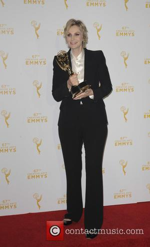 Jane Lynch - 2015 Creative Arts Emmy Awards at Microsoft Theater- Press Room at Emmy Awards - Los Angeles, California,...
