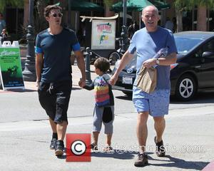 Orlando Bloom, Flynn Bloom and Colin Stone