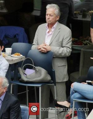 Michael Douglas , son Dylan - 2015 US Open Tennis - Women's Final against Flavia Pennetta and Roberta Vinci at...