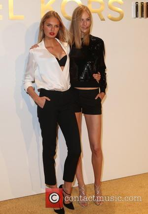 Romee Strigd , Vanessa Axent - Estee Lauder launches the Michael Kors Gold Collection Fragrance at The Top of The...