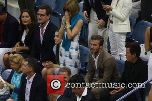David Beckham, Anna Wintour , Simon Fuller - Celebrities attend the 2015 U.S. Open Tennis Championships Men's Final between Novak...