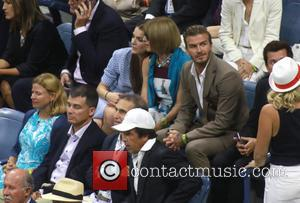David Beckham , Anna Wintour - Celebrities attend the 2015 U.S. Open Tennis Championships Men's Final between Novak Jokovic and...