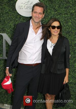 Mariska Hargitay , Peter Herman - Celebrities attend the 2015 U.S. Open Tennis Championships Men's Final between Novak Jokovic and...